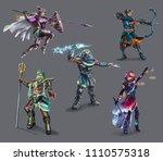 characters game  greek gods ...   Shutterstock . vector #1110575318