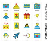 set of 16 icons such as double... | Shutterstock .eps vector #1110576962