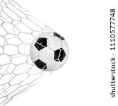 soccer or football 3d ball... | Shutterstock .eps vector #1110577748