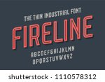 alphabet and font fire line.... | Shutterstock .eps vector #1110578312