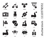 set of 16 icons such as... | Shutterstock .eps vector #1110578552