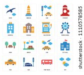 set of 16 icons such as sky ... | Shutterstock .eps vector #1110578585