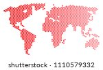 red circle dot world map.... | Shutterstock .eps vector #1110579332