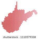 red dotted west virginia state... | Shutterstock .eps vector #1110579338