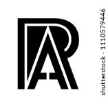 letter r and a with... | Shutterstock .eps vector #1110579446