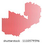 red round spot zambia map....   Shutterstock .eps vector #1110579596