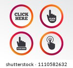 click here icons. hand cursor... | Shutterstock .eps vector #1110582632