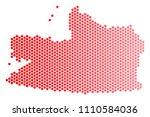 red circle dot kaliningrad...   Shutterstock .eps vector #1110584036