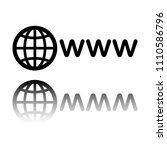 symbol of internet with globe... | Shutterstock .eps vector #1110586796