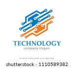 technology logo symbol template ... | Shutterstock .eps vector #1110589382