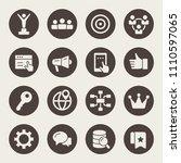 digital marketing icon set | Shutterstock .eps vector #1110597065