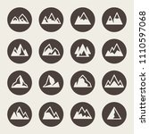 mountains icon set | Shutterstock .eps vector #1110597068