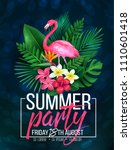 vector illustration summer... | Shutterstock .eps vector #1110601418