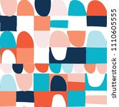 modern vector abstract seamless ... | Shutterstock .eps vector #1110605555
