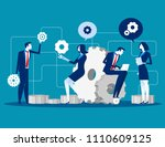 maintenance. business people... | Shutterstock .eps vector #1110609125