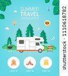 vector summer background with... | Shutterstock .eps vector #1110618782