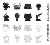 gold pistol  silver prize for...   Shutterstock .eps vector #1110623366