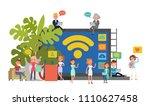 people character vector design. ... | Shutterstock .eps vector #1110627458