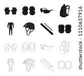full body suit for the rider ... | Shutterstock .eps vector #1110637916