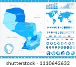 paraguay map and infographic... | Shutterstock .eps vector #1110642632
