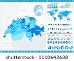 switzerland map and infographic ... | Shutterstock .eps vector #1110642638