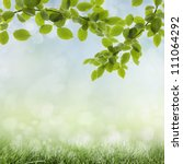 natural green background with... | Shutterstock . vector #111064292