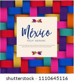 traditional colorful mexican... | Shutterstock .eps vector #1110645116