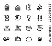 food icons with white background | Shutterstock .eps vector #1110645635
