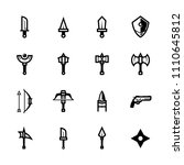weapon icons with white... | Shutterstock .eps vector #1110645812
