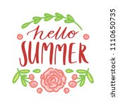 lettering text with flowers ...   Shutterstock .eps vector #1110650735