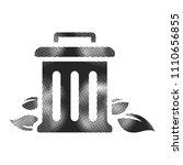 trash bin icon in halftone... | Shutterstock .eps vector #1110656855