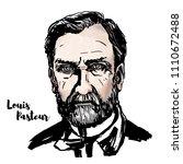 louis pasteur watercolor vector ... | Shutterstock .eps vector #1110672488