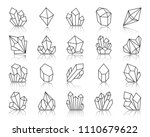 crystal thin line icons set.... | Shutterstock .eps vector #1110679622
