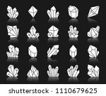 crystal silhouette icons set.... | Shutterstock .eps vector #1110679625