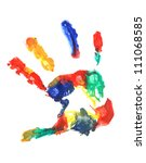 Color Hand Print  Isolated On...