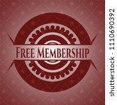 free membership red emblem.... | Shutterstock .eps vector #1110690392