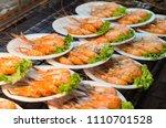 delicious fried shrimp | Shutterstock . vector #1110701528