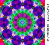 psychedelic art. decorative...   Shutterstock . vector #1110702485