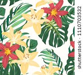 tropic exotic floral greenery... | Shutterstock .eps vector #1110703532