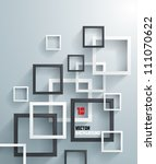 abstract 3d geometrical design | Shutterstock .eps vector #111070622