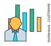 chart vector icon | Shutterstock .eps vector #1110706448