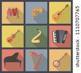 musical instruments  flat...   Shutterstock .eps vector #1110707765