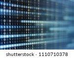 binary code data bit screen... | Shutterstock . vector #1110710378