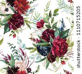 watercolor seamless pattern.... | Shutterstock . vector #1110715205