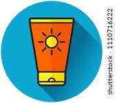 illustration of sunscreen... | Shutterstock .eps vector #1110716222