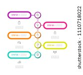 simple business info graphics | Shutterstock .eps vector #1110718022