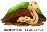 a snake living in the hole... | Shutterstock .eps vector #1110719408