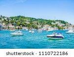 beautiful scenery port with...   Shutterstock . vector #1110722186