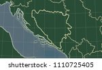 bosnia and herzegovina area map ... | Shutterstock . vector #1110725405