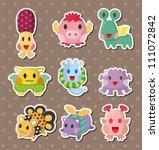 monster stickers   Shutterstock .eps vector #111072842
